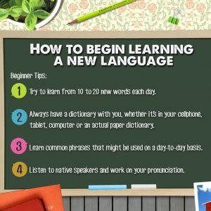 Kako da počnem da učim strani jezik?