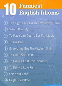 10 simpatičnih idioma sa značenjima