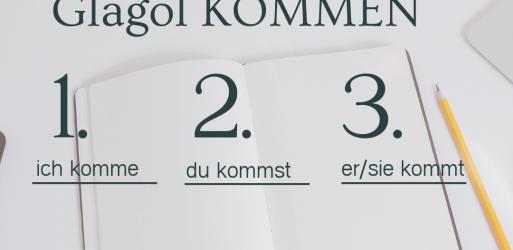 Nemački jezik – Glagol KOMMEN